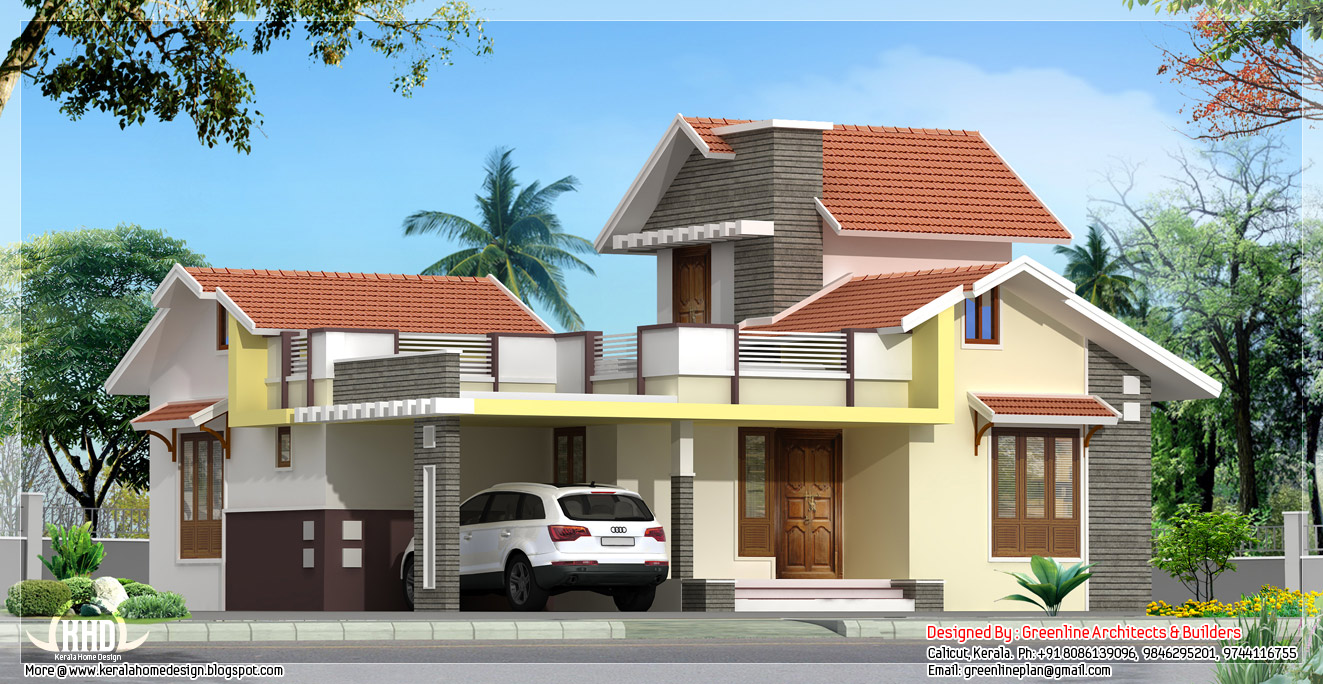 3 bedroom 1250 single floor house kerala home for Kerala style single storey house plans