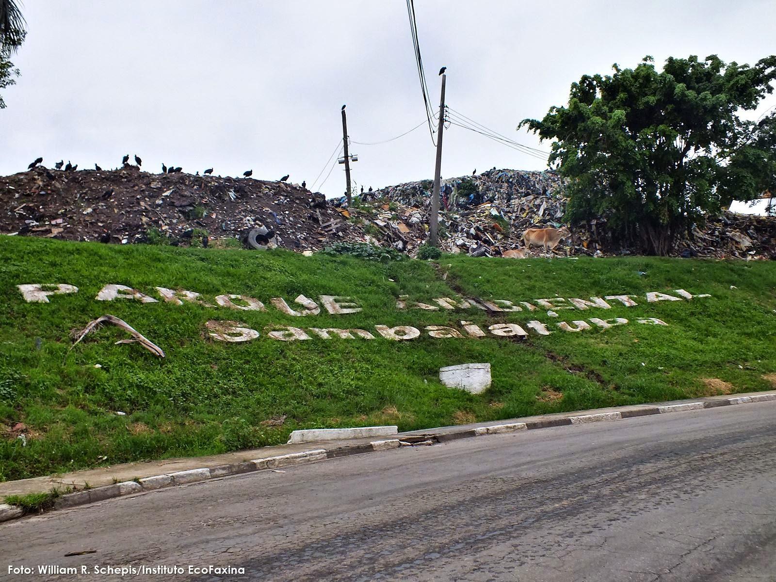 Entrada do Parque Ambiental Sambaiatuba, antigo lixão Sambaiatuba.
