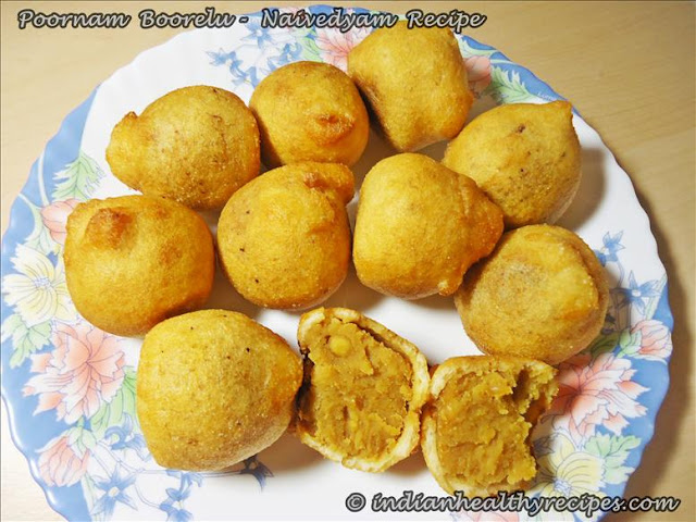 Poornam Boorelu Recipe | Navratri  Naivedhyam