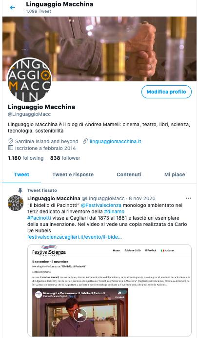 Twitter @LinguaggioMacc