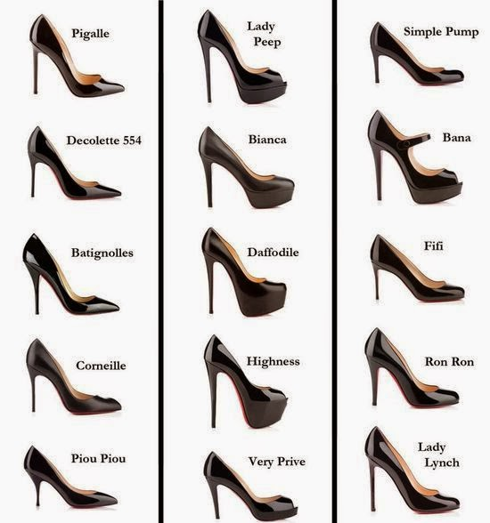 types of evening shoes