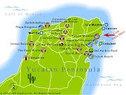 Mapa de Yucatán Peninsula Político Región (mapa de yucat peninsula)