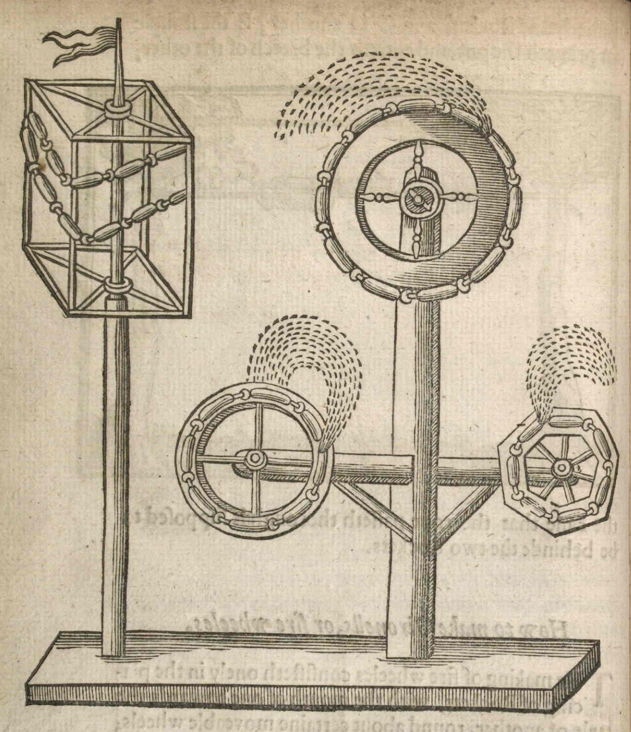 early modern fireworks line drawing