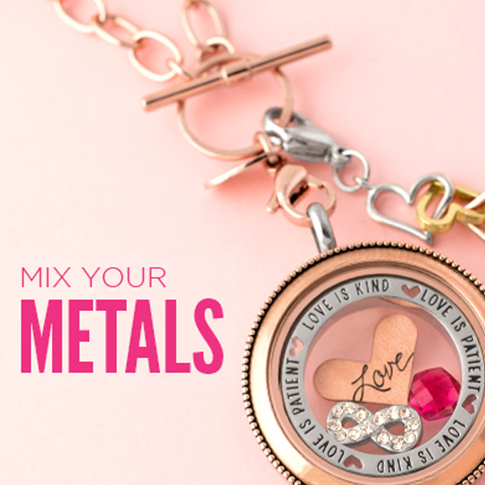 Mix Your Metals for a Unique Origami Owl Look | Shop StoriedCharms.com to create your own jewelry today.