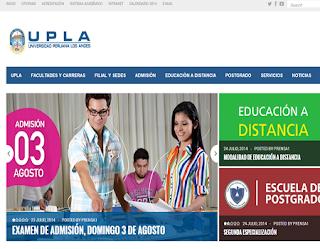 Ingresantes examen UPLA 2015 Examen Universidad Peruana Los Andes 2015 29 de Marzo