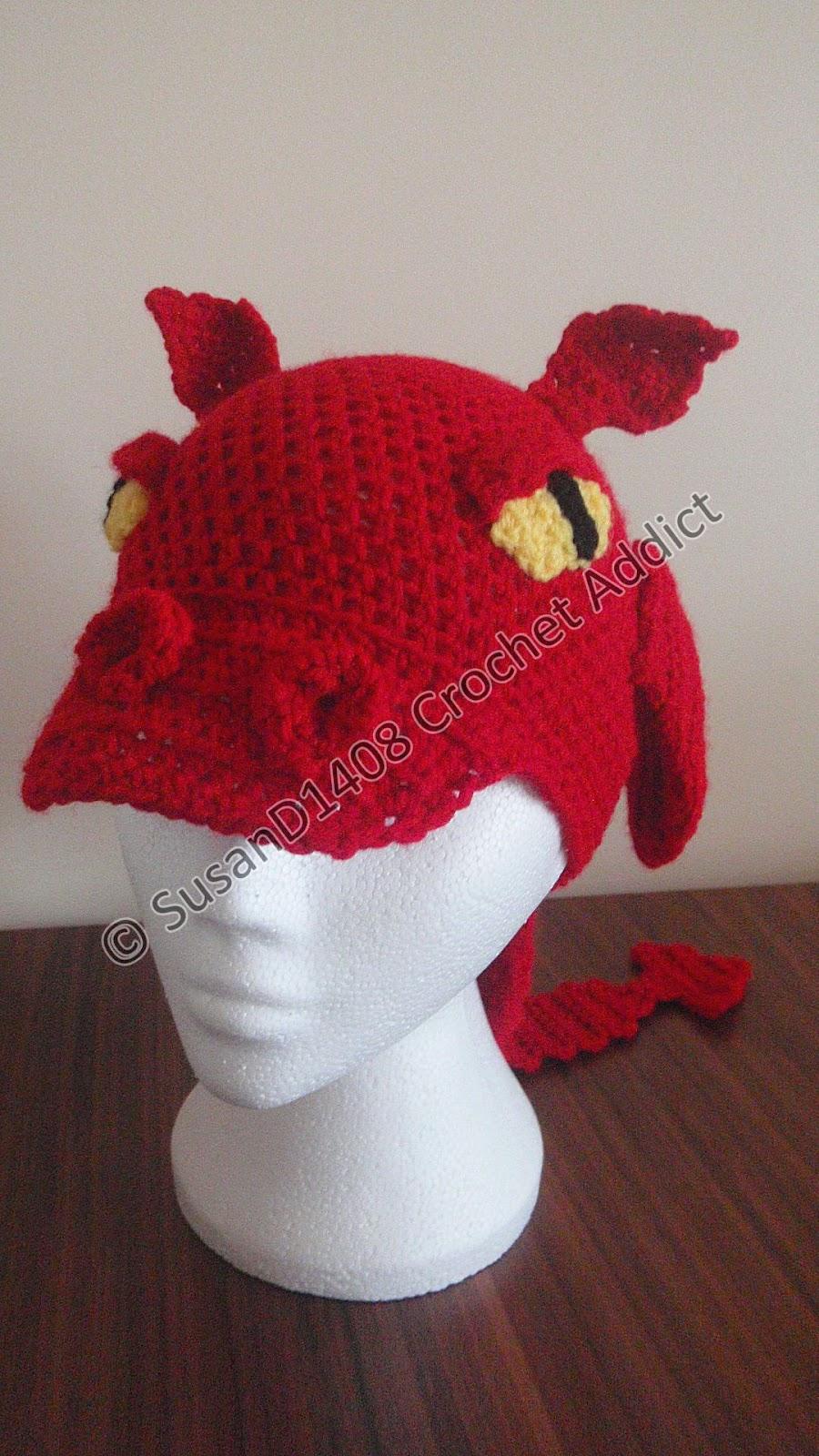 Dragon Hat Finished ~ Crochet Addict CFS