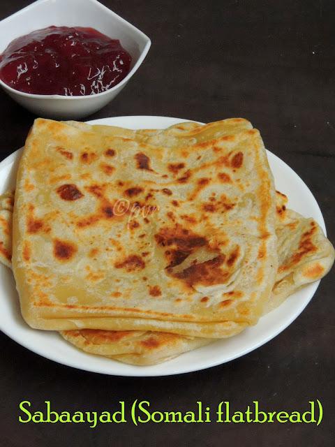 Sabaayad, Somali Flat Bread