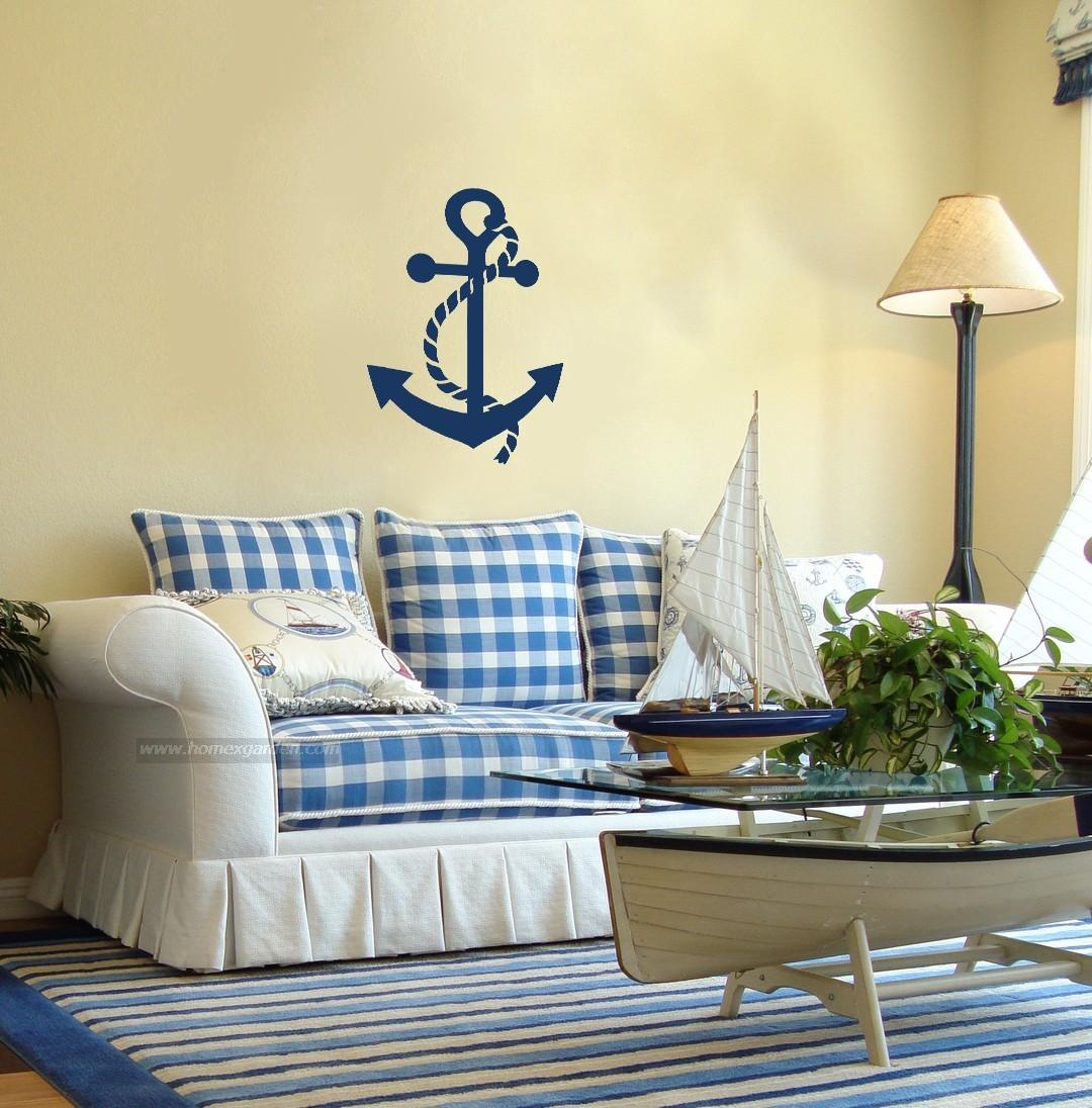 Nautical decor home interior design nautical handcrafted for Seashell bedroom decor