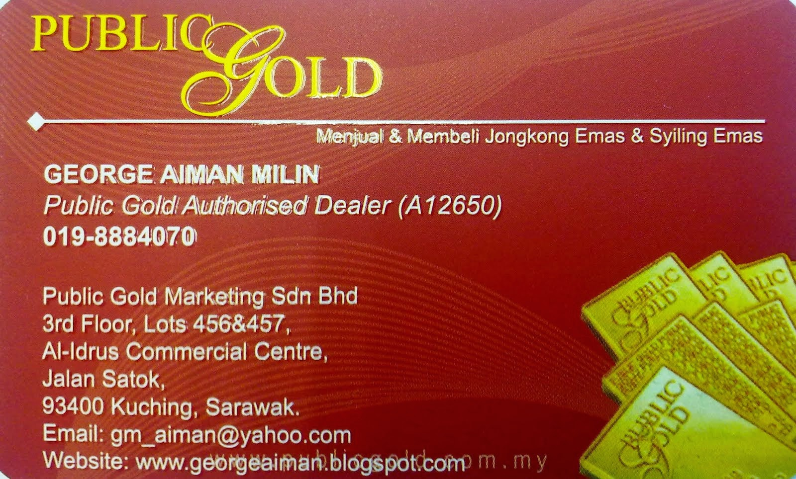 Name Card PB Gold