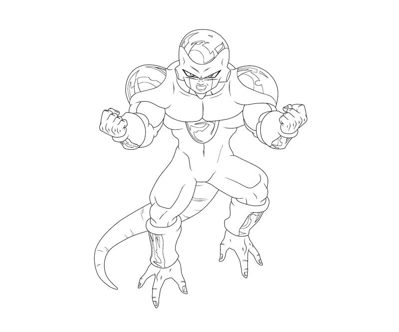 dbz coloring pages frieza - photo#12