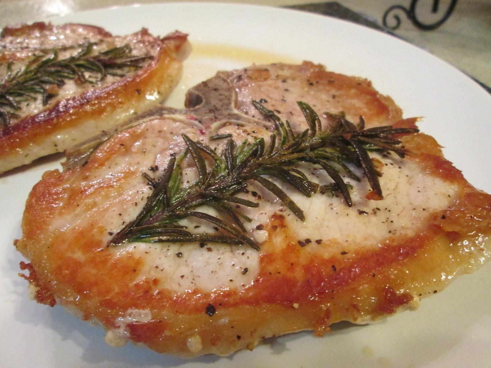 rosemary pork chop ingredients 2 bone in pork chops 2