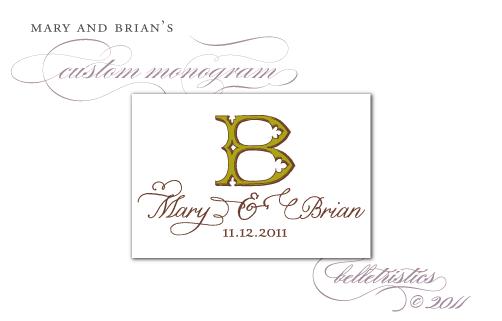 custom vintage typography ornate initial lettering monogram design