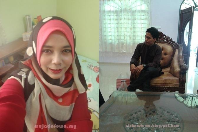 hari merisik, hari perkahwinan, blogger dirisik, nurmujahidah, mujadafewa, nik nashram