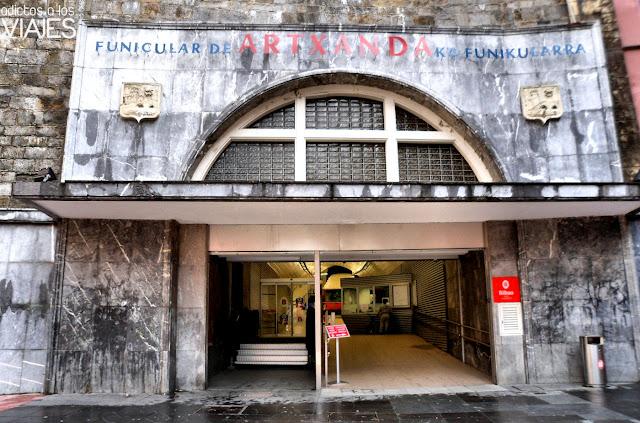 Estación inferior del funicular de Artxanda