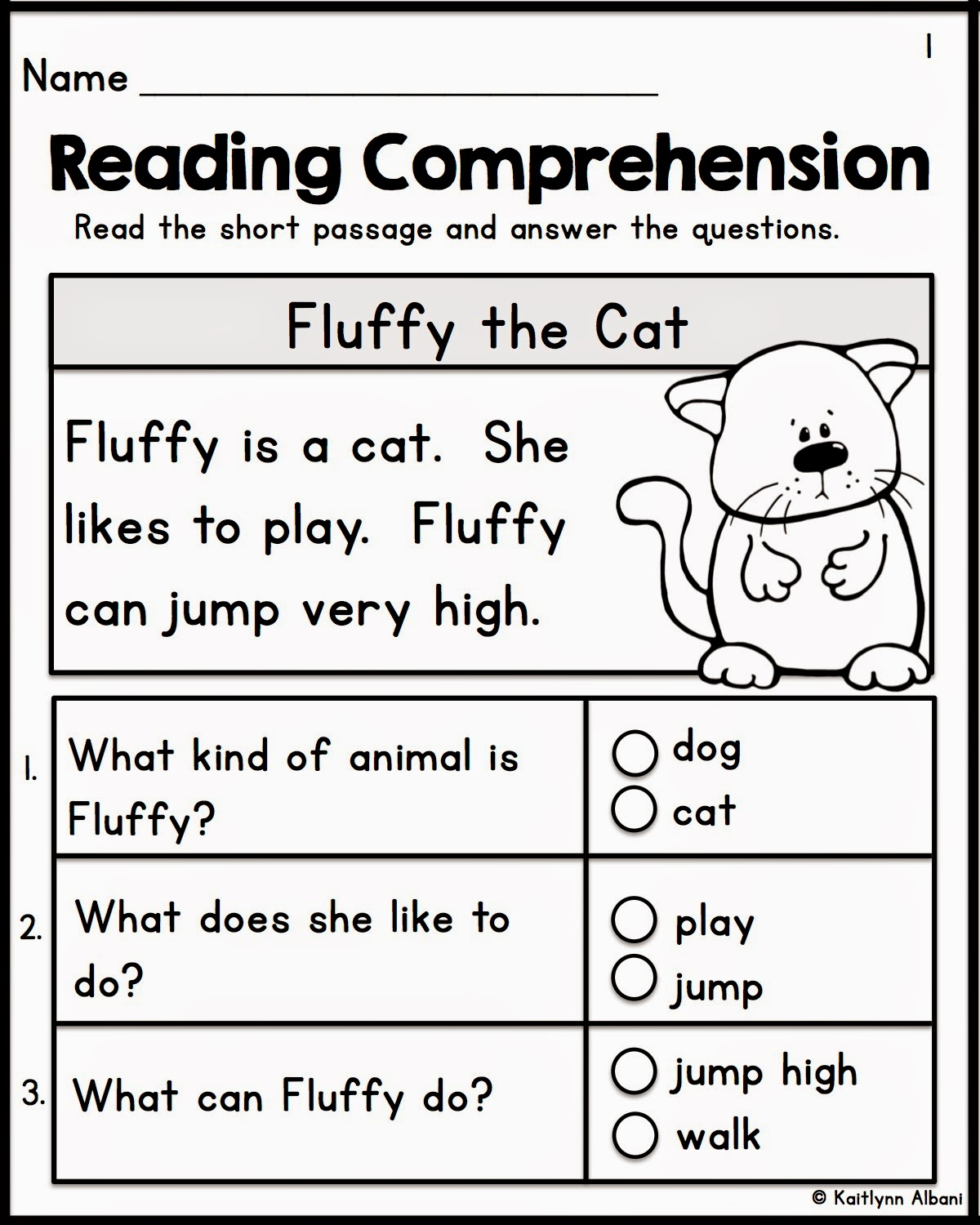 Worksheet Kindergarten Reading Comprehension Passages the best of teacher entrepreneurs ii kindergarten reading comprehension passages