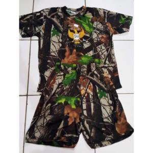 Baju Stelan Anak Pendek Loreng Perbankin