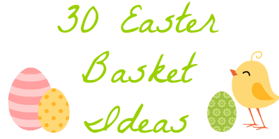 30 easter basket ideas besides candy little house of four so for their easter baskets i bought their favorite candy mms for my son and skittles for my daughter and a few other special treats and filled the negle Choice Image