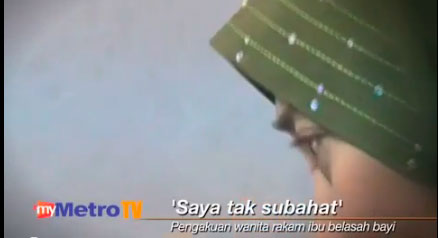 Video Pengakuan Perakam Kejadian Kes Ibu Dera Bayi