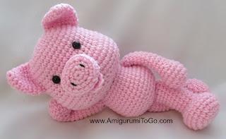 Free Crochet Amigurumi Pig : Big Piggy Little Pig New Pattern Coming ~ Amigurumi To Go