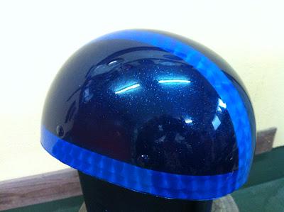1325654412 - カスタムペイント工程  バッドボーンヘルメット シルバーリーフ スピニング