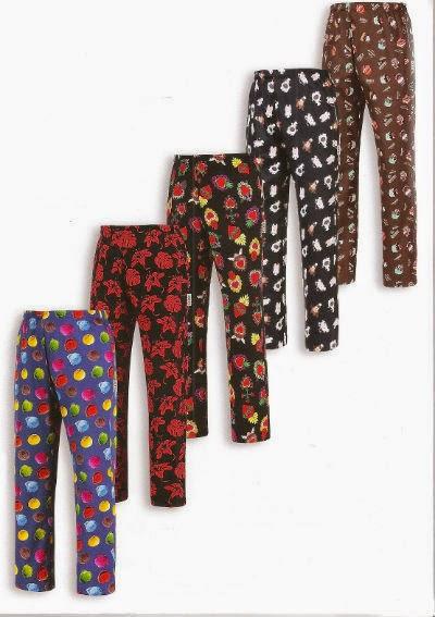 Vestuario laboral bilresa novedad pantalones de cocina estampados - Pantalones de cocina ...