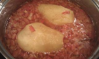 Patatas rellenas de chorizo