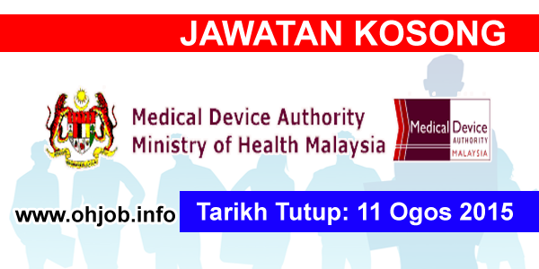 Jawatan Kerja Kosong Pihak Berkuasa Peranti Perubatan KKM logo www.ohjob.info ogos 2015