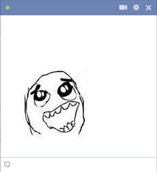 Happy Derp Meme Emoticon For Facebook Chat