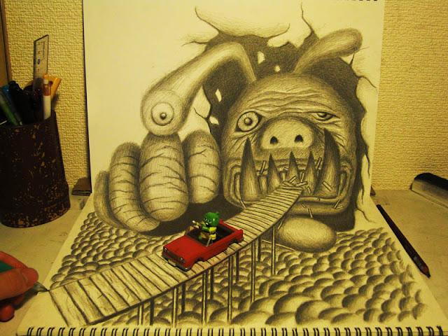 لوحات ثلاثية الأبعاد 3D+Pencil+Drawings+011