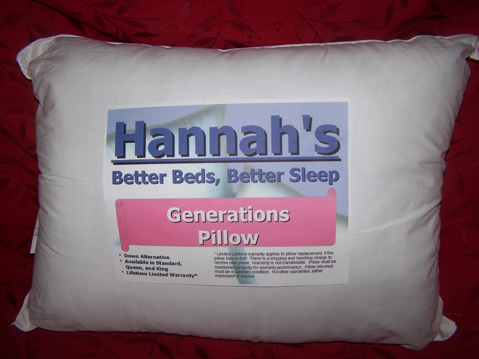 http://hannahsbetterbeds.com/Generations_Pillow.html
