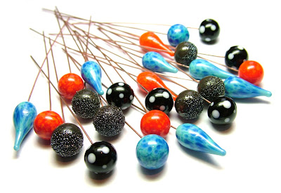 Lampwork glass headpins