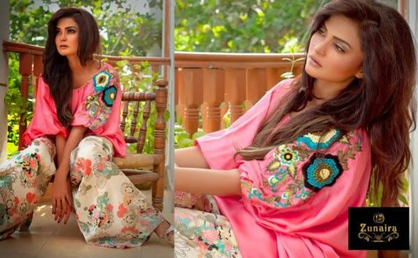 Zunaira Lounge Formal Wear Winter Dresses Collection 2013-14 For Women & Girls