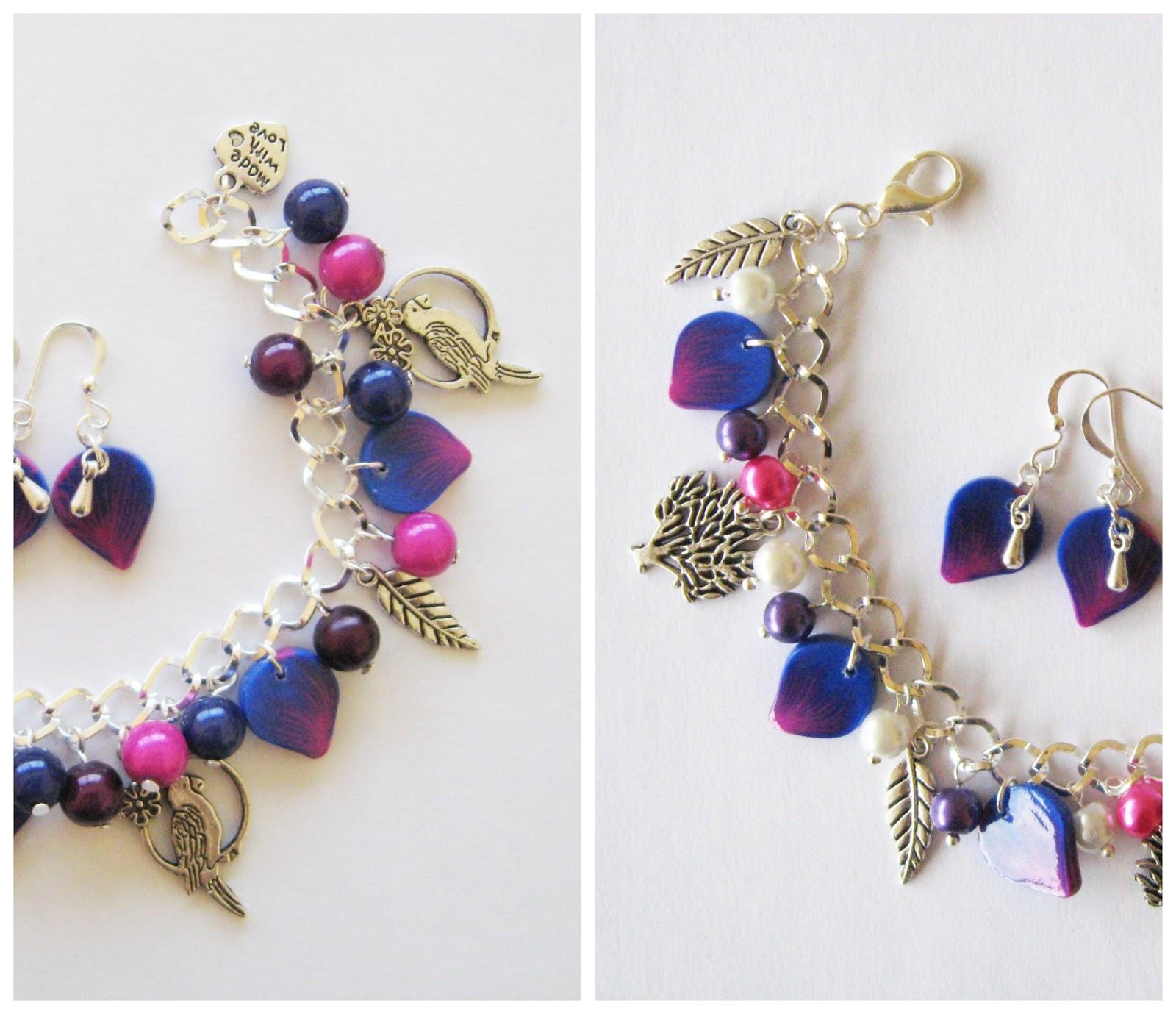 paon bijoux lois violet