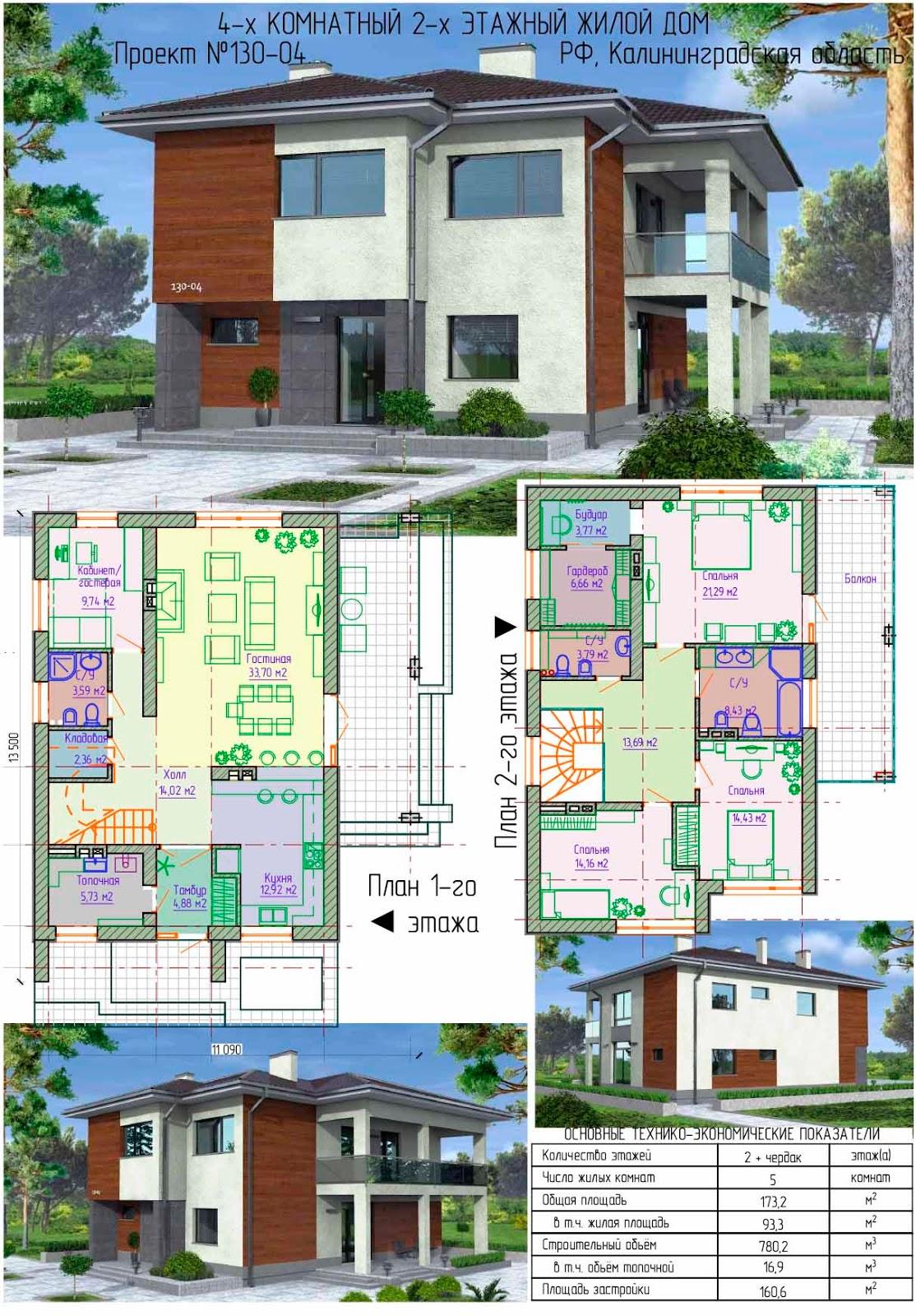 Проекты домов и коттеджей 100 кв м: цены под ключ в СПб