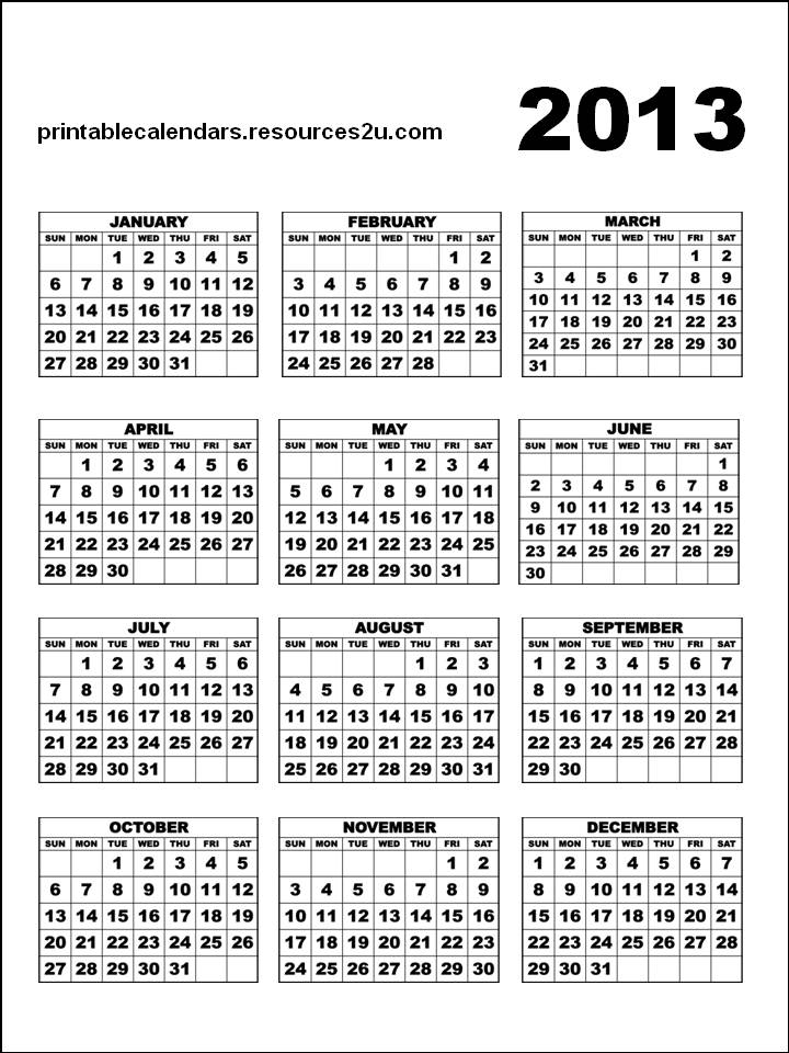 free bookmarks and cards  free calendar 2013 template