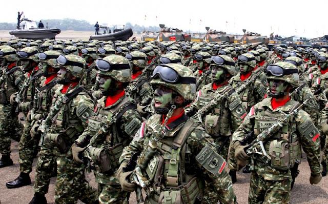 Penyusutan Jumlah Pasukan TNI Hingga Tahun 2029