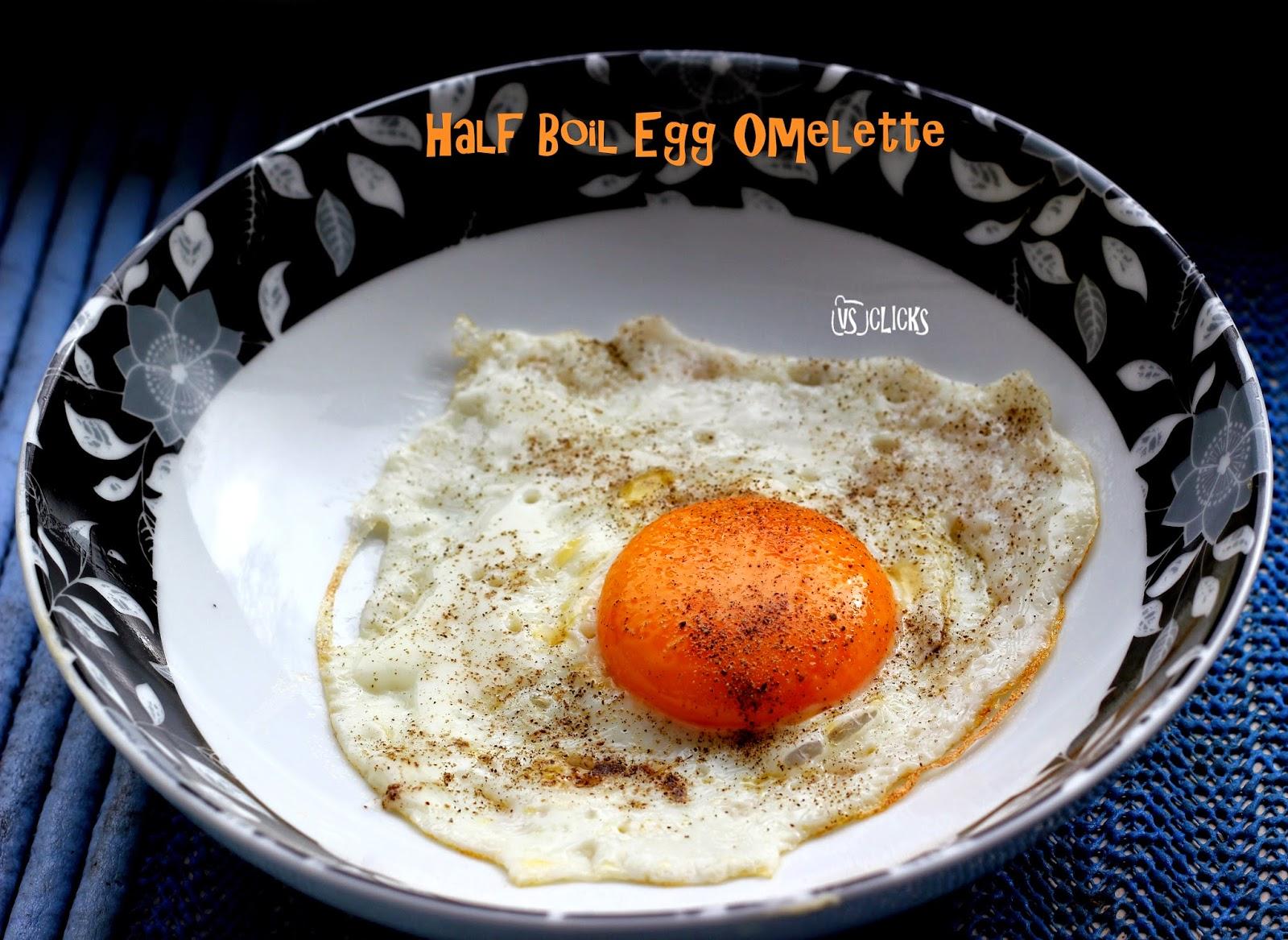 Half Boil Egg Omelette