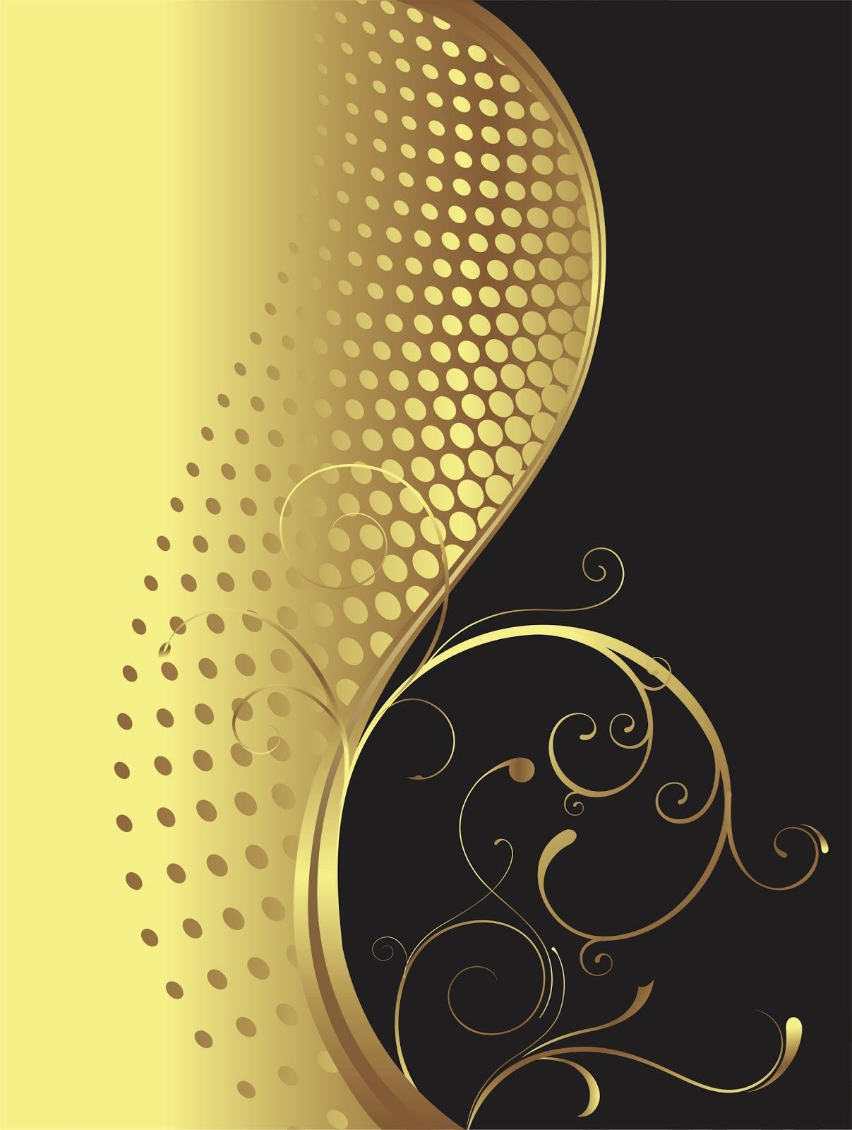 Fundo Dourado Elegante Em Corel Draw