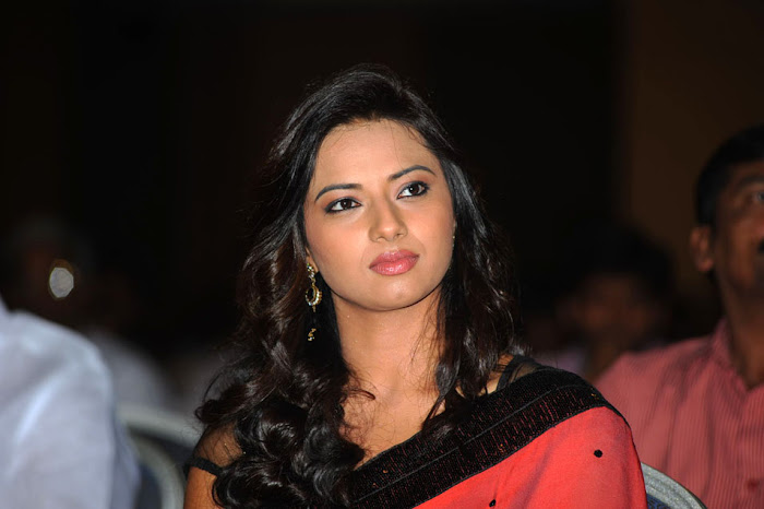 isha chawla at poola rangadu audio launch, isha chawla saree photo gallery