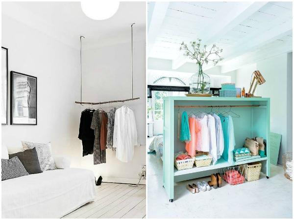 10 Ideas brillantes para hacerte un armario a la vista (y organizado)