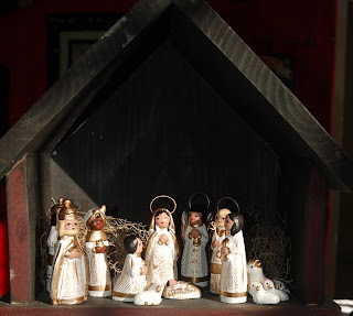 Seasonalpics Manger scene from Mexico photo