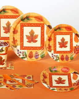 Watercolor Leaves Standard Party Kit