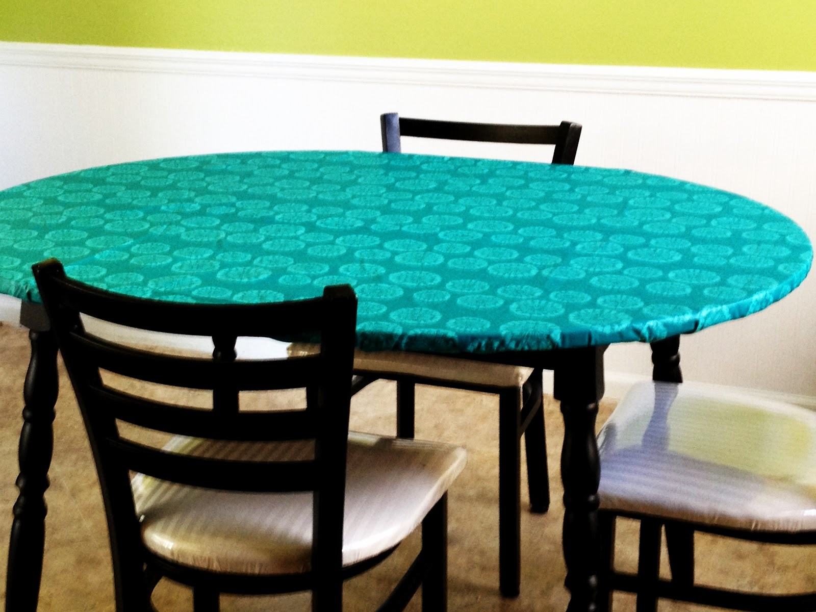 Whimsikel Faux Oilcloth Covered Kitchen Table
