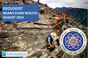 List of Passers: Geologist board exam results August 2014