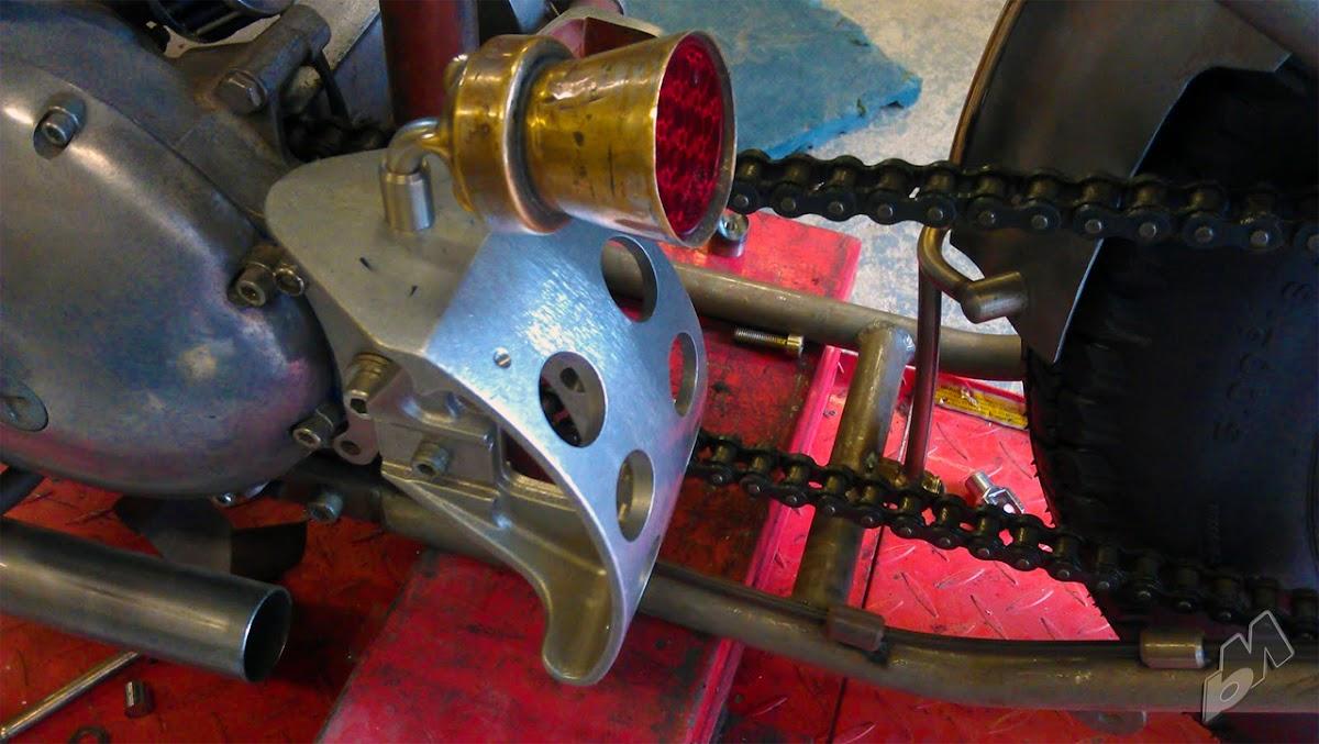 xs650 bobber brake light bracket   bobbed to the bone