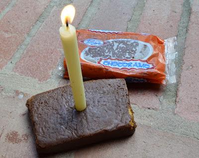 Chocoramo como tarta de cumpleaños. Foto: Jorge Bela