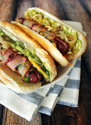 Bacon-wrapped Jalapeno Dogs: For the bacon lover, obviously