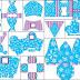 Frozen en Morado y Celeste para Navidad: Cajas para Imprimir Gratis.