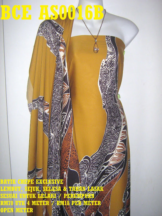 BCE AS0016B: BATIK CREPE EXCLUSIVE ,  4 METER