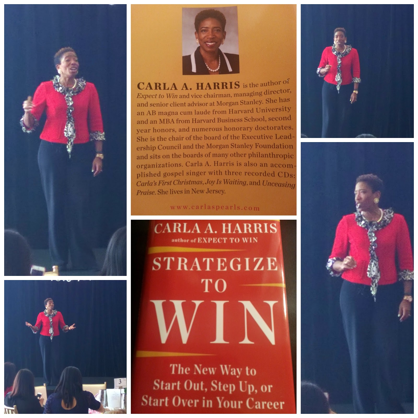 Carla A. Harris Keynote speaker #EWD PGAWomanTour collage